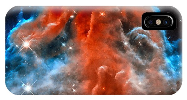 Space Image Horsehead Nebula Orange Red Blue Black IPhone Case