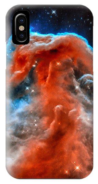 Space Image Horsehead Nebula Orange Red Blue Black IPhone Case