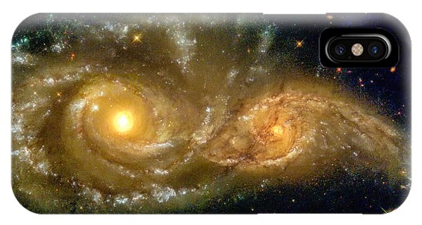Space Image Spiral Galaxy Encounter IPhone Case