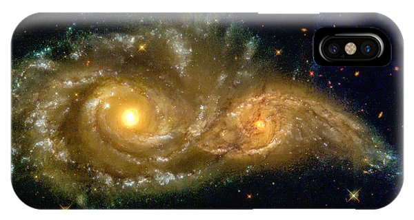 IPhone Case featuring the photograph Space Image Spiral Galaxy Encounter by Matthias Hauser