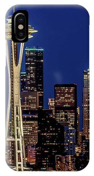 Space Needle And Skyline At Dusk IPhone Case