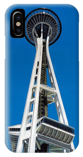 IPhone Case featuring the painting Space Needle by Jason Girard