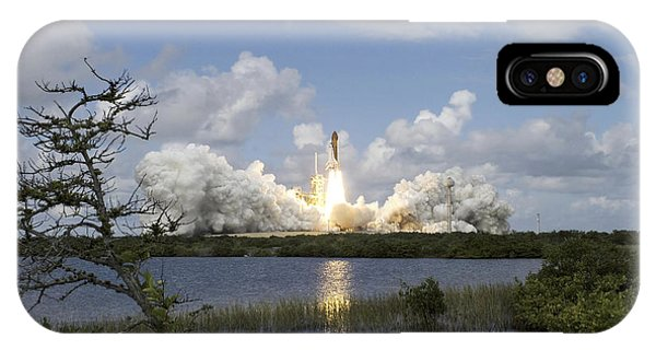 Liftoff iPhone Case - Space Shuttle Discovery Liftoff by Stocktrek Images