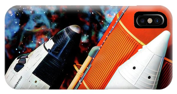IPhone Case featuring the digital art Space Shuttle by Ray Shiu