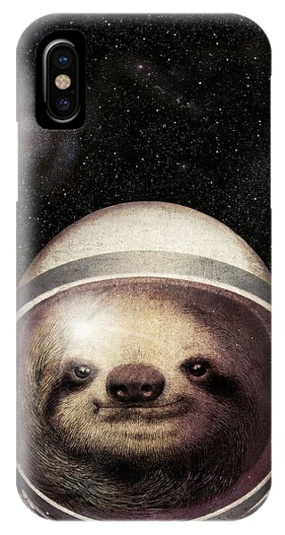 Space iPhone Case - Space Sloth by Eric Fan