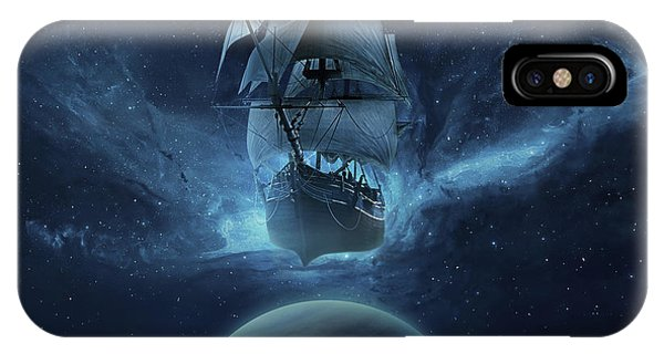Planet iPhone Case - Spaceship by Zoltan Toth