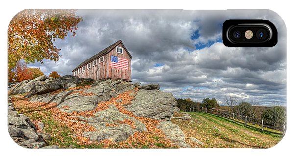 New England Barn iPhone Case - Spacious Skies by Bill Wakeley