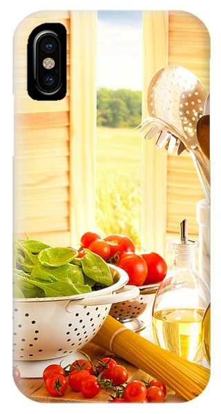 Spaghetti And Tomatoes In Country Kitchen IPhone Case