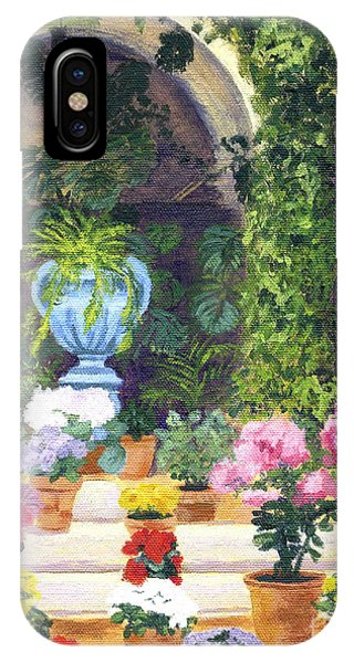Spanish Courtyard IPhone Case