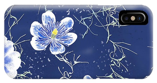 Indigo Batik Tile 4 - Spanish Moss IPhone Case