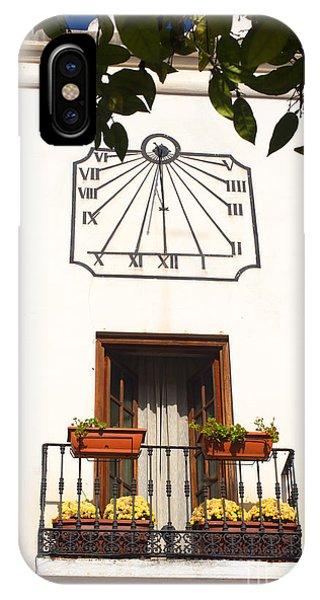 Spanish Sun Time IPhone Case
