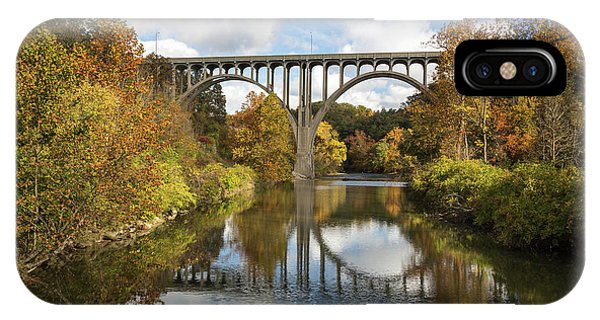 Spanning The Cuyahoga River IPhone Case