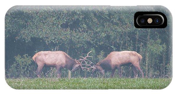 Sparking Elk On A Foggy Morning - 1957 IPhone Case