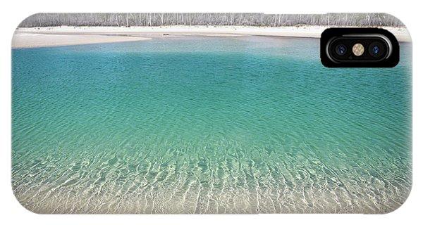 Sparkling Beach Lagoon On Deserted Beach IPhone Case