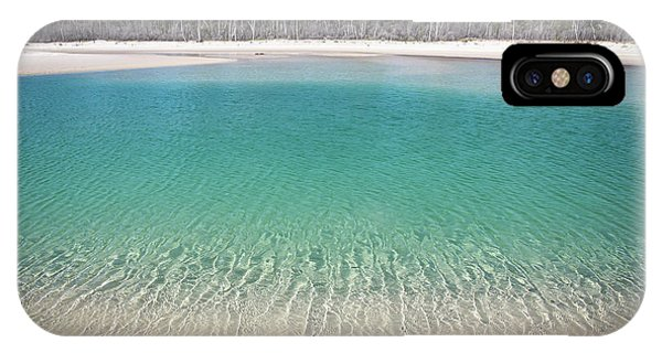 Sparkling Beach Lagoon On Deserted Beach IPhone Case