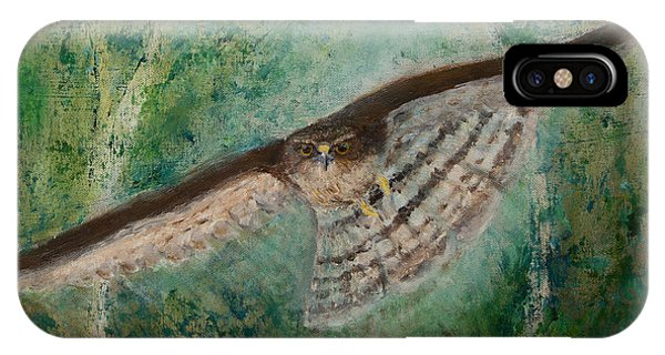 Sparrowhawk Hunting IPhone Case