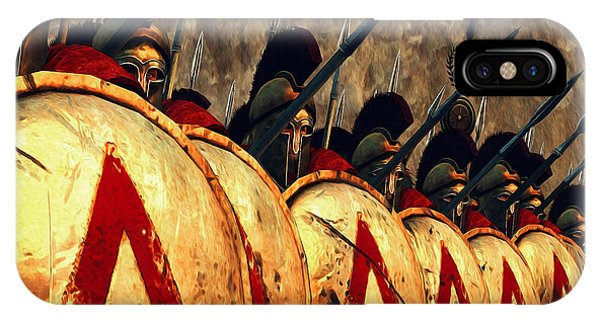 Spartan Army - Wall Of Spears IPhone Case