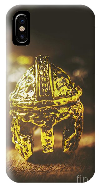 Ancient Rome iPhone Case - Spartan Military Helmet by Jorgo Photography - Wall Art Gallery