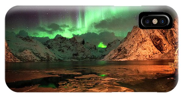 Spectacular Night In Lofoten 1 IPhone Case