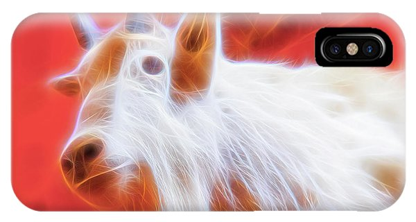 IPhone Case featuring the digital art Spectral Mountain Goat by Ray Shiu
