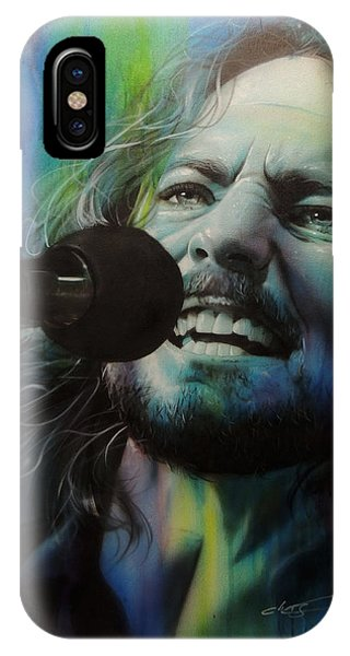 Pearl Jam iPhone Case - Spectrum Of Vedder by Christian Chapman Art