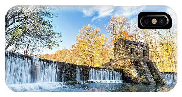 Speedwell Dam Waterfall IPhone Case