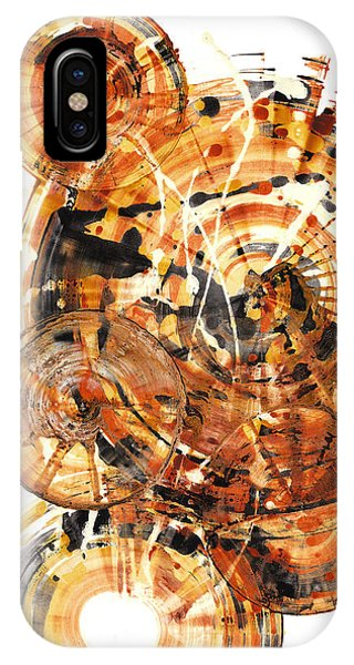 IPhone Case featuring the painting Sphere Series 1021.050212 by Kris Haas