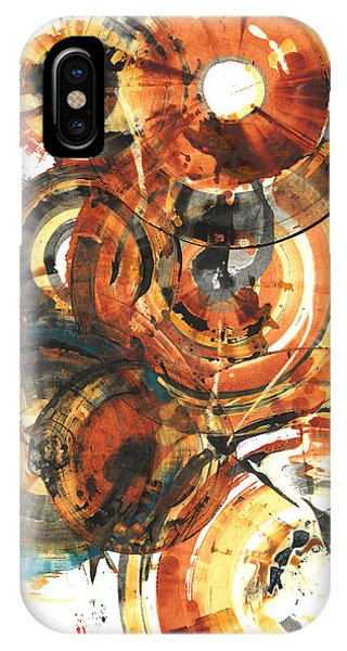 IPhone Case featuring the painting Sphere Series 1022.050212 by Kris Haas
