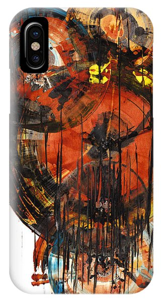 IPhone Case featuring the painting Sphere Series 1023.050312 by Kris Haas