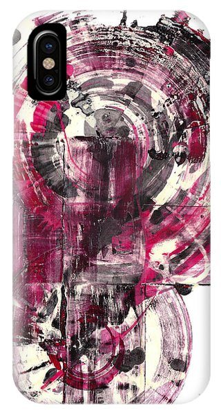 IPhone Case featuring the painting Sphere Series 1026.050412 by Kris Haas