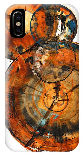 IPhone Case featuring the painting Sphere Series 1027.050412 by Kris Haas