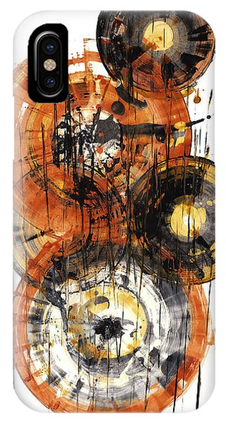 IPhone Case featuring the painting Sphere Series 1028.050412 by Kris Haas