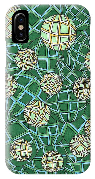 Spheres Cluster Green IPhone Case