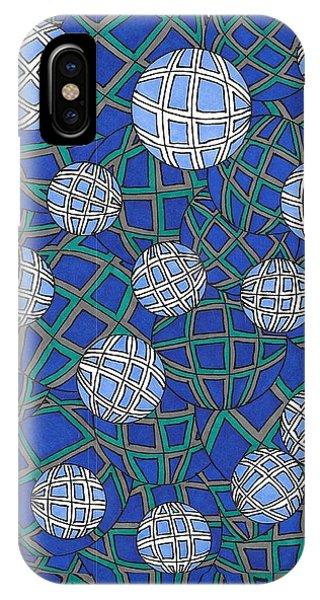 Spheres In Blue IPhone Case