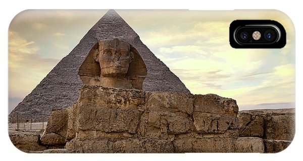 iPhone Case - Sphinx And Pyramid At Dusk by Jane Rix
