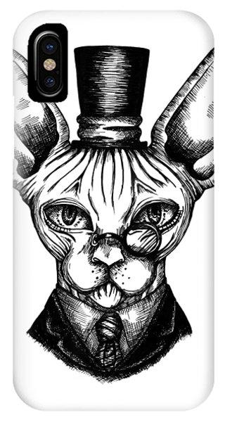 Sphynx Gentleman IPhone Case