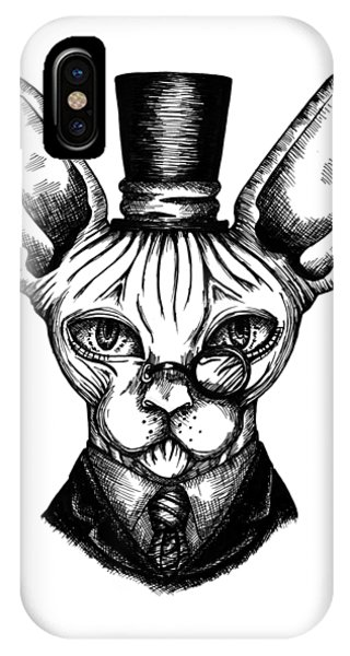 Sphynx Gentleman IPhone Case