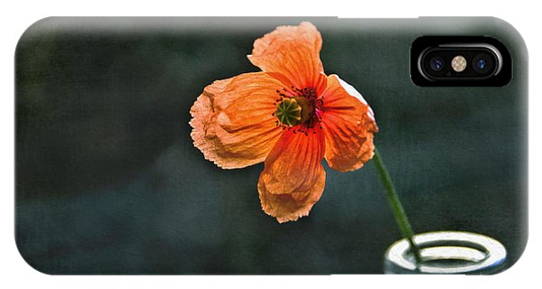 Spicy Red Poppy IPhone Case