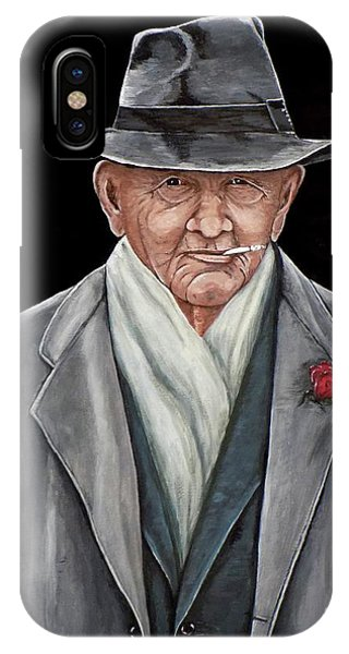 Spiffy Old Man IPhone Case