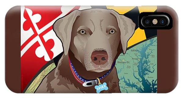 Spike, The Maryland Silver Lab IPhone Case