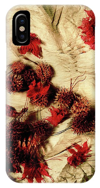 Spiked Nuts Red IPhone Case