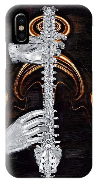 Spines iPhone Case - Spine - Instrument Of Life by Joseph Ventura