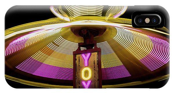 Funfair iPhone Case - Spinning Yoyo Ride by Juli Scalzi