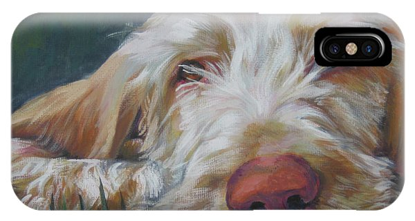 Pup iPhone Case - Spinone Italiano Orange by Lee Ann Shepard
