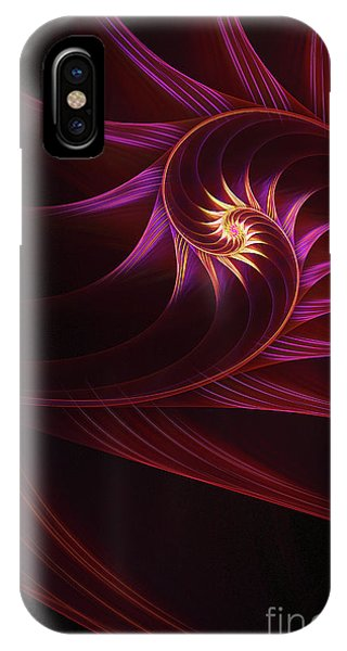 Digital Effect iPhone Case - Spira Mirabilis by John Edwards