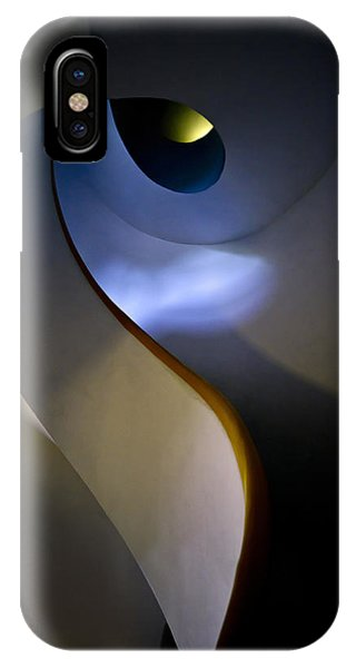 IPhone Case featuring the photograph Spiral Concrete Modern Staircase by Jaroslaw Blaminsky