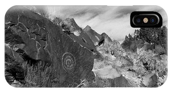 Spiral Petroglyph IPhone Case