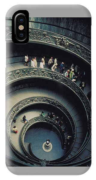 Spiral Staircase In Vatican 2 Phone Case by Carl Purcell