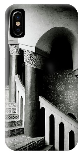 Barbara iPhone Case - Spiral Stairs- Black And White Photo By Linda Woods by Linda Woods