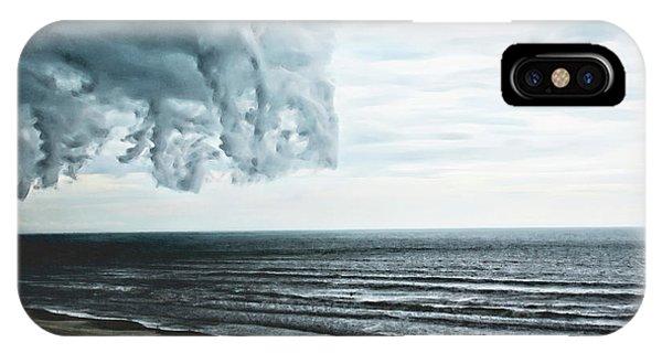 Spiraling Storm Clouds Over Daytona Beach, Florida IPhone Case